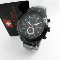 Jam Tangan Swiss Army Chronograph Sa2253 Black