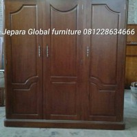 lemari pakaian jati pintu 3 (sofa,kursi tamu,meja makan,bufet,nakas)
