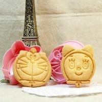 cetakan roti kue biskuit bentuk kepala doraemon dorami lucu - HKN188