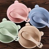 mangkuk kuping dan sendok bentuk kelinci makan juice sup anak - HKN223