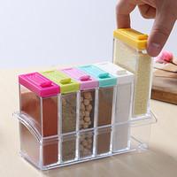 Spices box tempat rak bumbu dapur warna warni seasoning set - HKN171