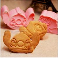 cetakan kue biskuit stitch doraemon HK pooh melody lucu - HKN191