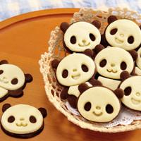 cetakan kue bentuk kepala panda lucu unik - HKN182