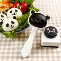 cetakan nasi motif kepala panda lucu unik bekal makan anak - HKN181