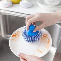 spons cuci piring dan panci bentuk bulat - HKN143