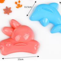 cetakan nasi bentuk ikan lumba lumba dan kelinci bekal anak - HKN183