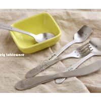 Sendok dan garpu makan stainless steel motif baymax lucu unik - KKN004