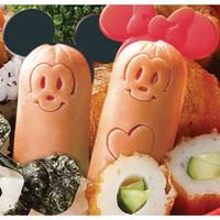 cetakan nasi sosis bentuk mickey minnie mouse makan anak lucu - HKN189