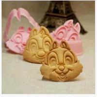 cetakan kue biskuit bentuk chipmunk kartun lucu bekal anak - HKN199
