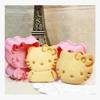 cetakan kue biskuit bentuk hello kitty mickey mouse lucu unik - HKN187