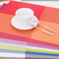 Alas tatakan piring makan bahan PVC ringan modern higienis - HHM442