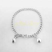 Gelang Tangan Anak/gelang Bayi Perak Silver 925 Lapis Emas Putih