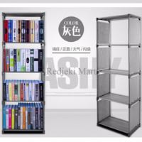 Rak Portable Serbaguna 4 susun Book Rack Buku Shelf Single Interior