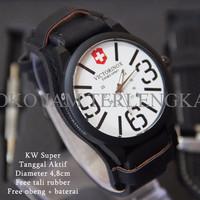 [OPENING PROMO!] Victorinox Combo Leather Hitam plat Putih