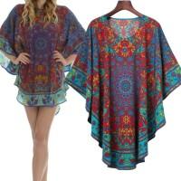 Baju Longgar Wanita Retro Printing Size(S,)Bermerk/Mewah/New 41216