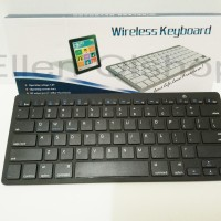 Ultra Slim Bluetooth Keyboard iOS Android PC - Black