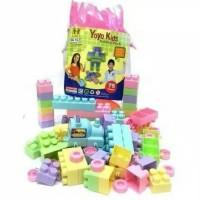 mainan edukasi block lego yoyo 75 pcs / block anak balita kantong