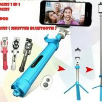 New Tongsis 3 In 1 / Tripod + Tomsis Bluetooh / Selfie Stick BKC299