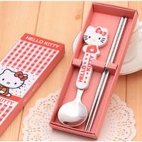 peralatan makan anak sendok dan sumpit karakter kartun - HKN178 BKC308