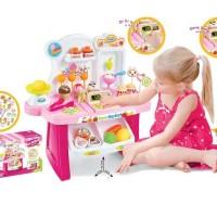 Mainan Kasir Supermarket Kasir Playset Pink