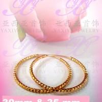 Yaxiya anting gipsy perhiasan imitasi lapis emas aksesoris gold18k 484