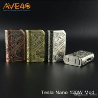 Authentic mod Teslacigs / tesla steampunk nano 120W best vape