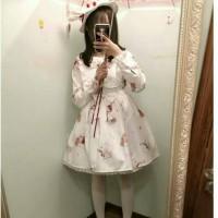 CC White Lolita Dress / Dress Lolita Putih