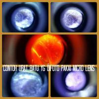 Jual Microskop 60x batu cincin mini  Mikroskop 60x   Kaca pengbesar / Jepit Murah