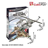 :100% Original: Cubic Fun Puzzle 3D AH-1 Huey Cobra & Sukhoi Su-35