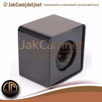 JC02 | Black Abs Mic Microphone Interview Square Cube Logo Flag Statio
