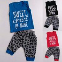 Baju Setelan Anak Bayi Laki Cowok Kaos Kutung Sweet Child of Mine XOXO
