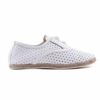 Sepatu Loafers Wanita | White Synthetic