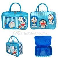 Jual Tas travel Doraemon cute koper mudik jalan renang kanvas tebal murah Murah