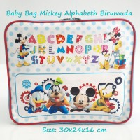 Jual Baby Bag Organizer Karakter Mickey Disney Biru muda (2 in 1) Murah