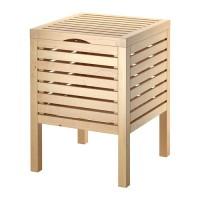 Ikea Molger ~ Bangku & Tempat Penyimpanan Kayu Birch | Storage Stool