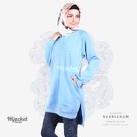 Jaket Jacket Hijab Jilbab Hoodie Kasual Casual Wanita BUBBLEGUM