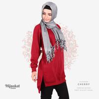 Jaket Jacket Hijab Jilbab Hoodie Kasual Casual Wanita CHERRY