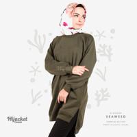Jaket Jacket Hijab Jilbab Hoodie Kasual Casual Wanita SEAWEED