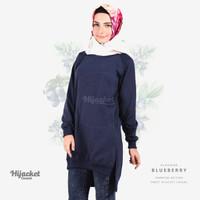 Jaket Jacket Hijab Jilbab Hoodie Kasual Casual Wanita BLUEBERRY