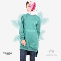 Jaket Jacket Hijab Jilbab Hoodie Kasual Casual Wanita MINT
