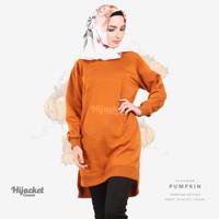 Jaket Jacket Hijab Jilbab Hoodie Kasual Casual Wanita PUMPKIN