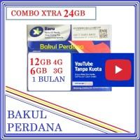 Kartu Perdana Internet XL Combo XTRA 24 GB + KUOTA YOUTUBE UNLIMITED !