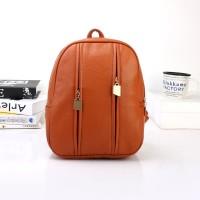 Tas Anak Wanita Ransel Yellow Coklat Import Backpack Sporty Mini