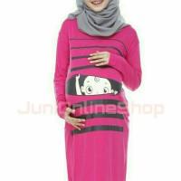 Midi Dress Maternity Baju Hamil Unik Baby Peek 1 Fanta Juni Online