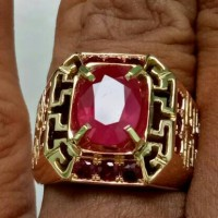 Jual GIA Certified Red Blood 3.53 Ct RUBY Burma With 14 Gram Golden Ring Murah