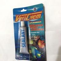 VERICHEM LEM KACA / Aquarium, Silicone Rubber Adhesive, Sealant 30gr