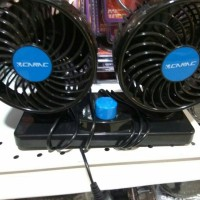 NEW KIPAS ANGIN PORTABLE MOBIL VEHICLE DUAL FAN DC-12