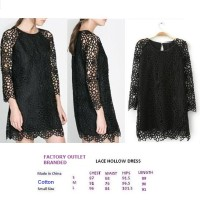 LACE HOLLOW DRESS. Made in China - FACTORY OUTLET BRANDED JAKARTA