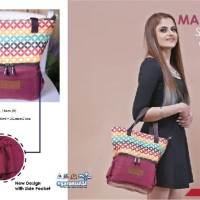 cooler thermal bag GabaG Maroon Tote / tas asi bonus 2 ice gel besar