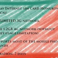 Kartu Sim Card Internet Card HONG KONG + MACAU 7 hari UNLIMITED